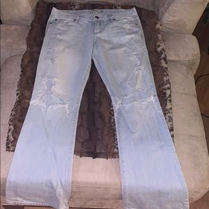 Abercrombie & Fitch Madison distressed flare jeans